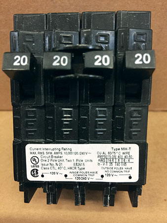 Photo 4. Circuit breaker label with torque values