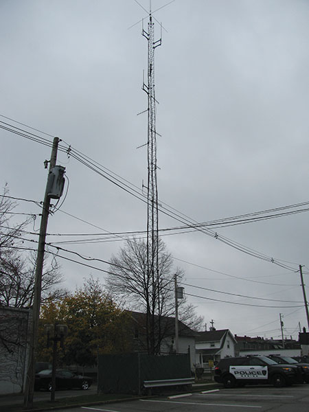 Figure 3. The Medina safety complex's antenna tower often attracted lightning, most notably during a large storm in 2013. Unfortunately, the tower was inadequately grounded, a serious discrepancy that enabled lightning energy to enter the safety complex, where it destroyed communications and other sensitive electronic equipment.