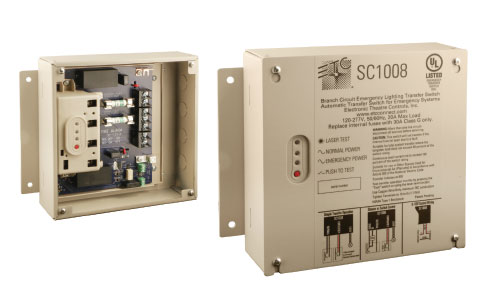Figure 1. Branch Circuit Emergency Lighting Transfer Switch (Photo courtesy Electronic Theatre Controls)