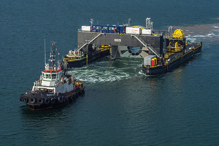 Photo 1: A 2 mW Cape Sharp Tidal turbine the largest of its kind in the world.