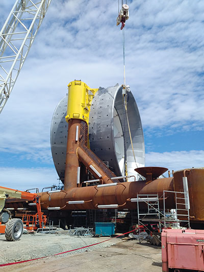 Photo 4. The turbine subsea base before it was filled with concrete.