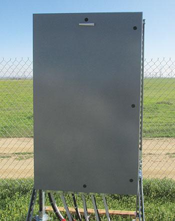 Photo 11. Door requires a tool to open.