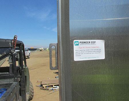 Photo 18. Enclosure label has no NRTL certification mark (red flag).