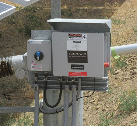 Photo 24. Tracker controller with E-Stop on the right-hand side of enclosure