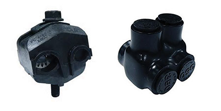 Photo 2. Insulation piercing type and threaded lug type connectors. Photo courtesy of Thomas & Betts