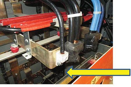 """Photo 5. Connecting to this bus work would require doing so in accordance with the manufacturer's instructions or being field-evaluated by a """"Field Evaluation Body."""" Photo by Matt Piantedosi, Cadmus"""