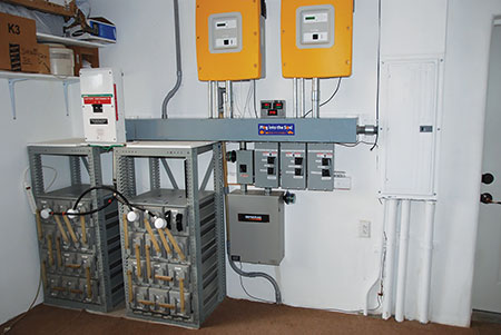 Photo 3C. Energy storage, dc to ac conversion and utility interface.