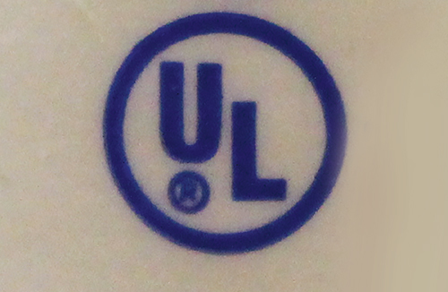 Photo 2. An Underwriters Laboratory certification mark