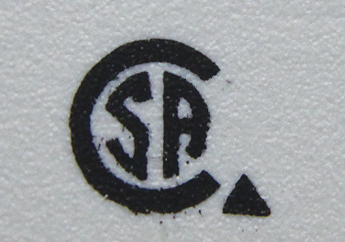 Photo 3. A Canadian Standards Association recognition mark