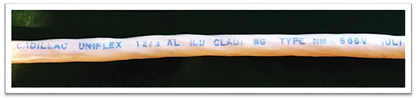 Figure 4. Cu-Clad NM-B 12/3 by Cadillac Uniflex (circa 1973)