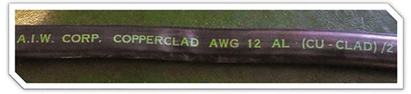 Figure 5. Cu-Clad NM-B 12/2 by American Insulated Wire Corp. (circa 1973)