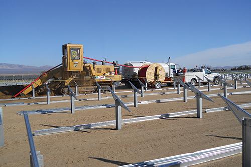 Photo 13. Underground 35 kV cable installation starts.