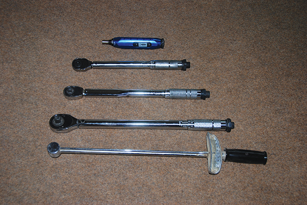 Photo 2. Various sized torque tools are necessary for making code-compliant electrical connections.