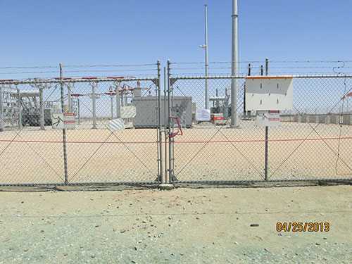 Photo 3A. Substation is red tagged and red danger tape is installed by the operators.