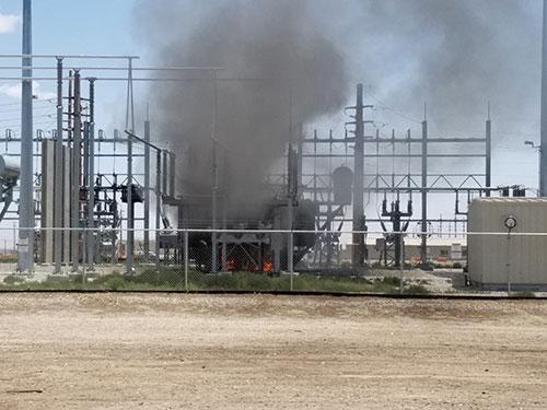 Photo 8A. 230 kV transformer