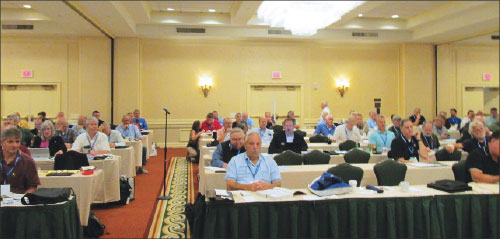 Photo 3. 2016 IAEI Eastern Section meeting with two movable partitions tracks in the background