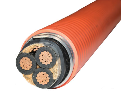 Photo 4. The Cable in this picture has three insulated conductors and a bare conductor (bond). Courtesy of Southwire Company