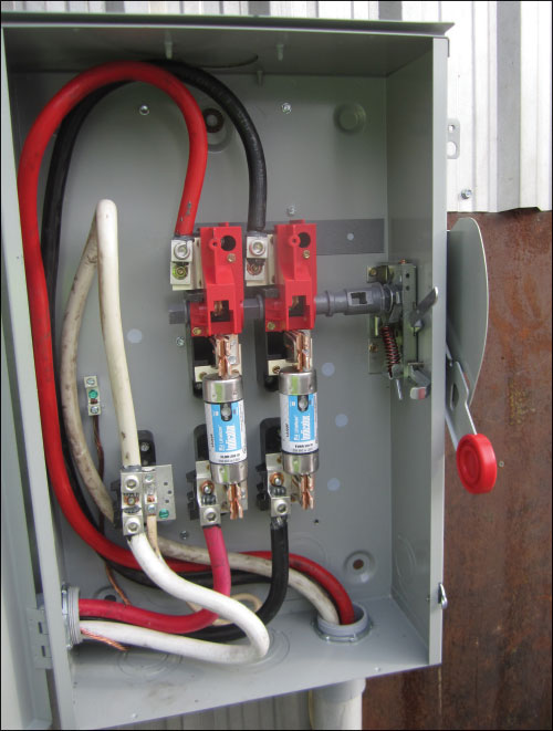 Photo 9. This is an example of an installation this is not in accordance with new Subrule (3) of Rule 6-212.