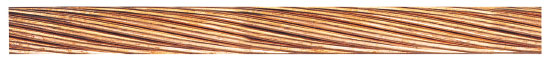 Photo 2. A Bare Copper Conductor typically used for bonding of equipment and system grounding. Courtesy of Nexans Canada Inc.
