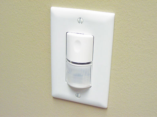 Photo 1. Switching devices such as occupancy sensors have become popular with energy conservation in mind.